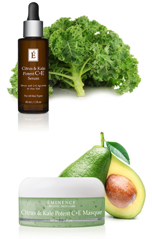 Eminence Citrus & Kale Potent C+e Serum Perricone MD Acyl-Glutathione 1 oz